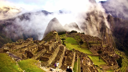 Stunning aerial view of Machu Picchu
