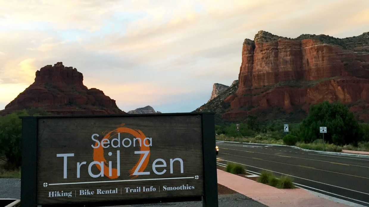 Road sign for Sedona Trail Zen in Arizona