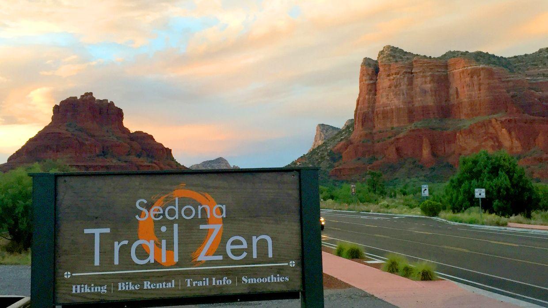 Trail Zen sign in Arizona