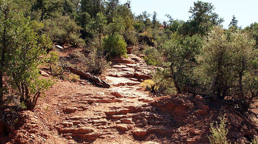 Pathway leading up hillside in Sedona