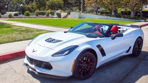 Corvette convertible parked near Beverly Hills sign
