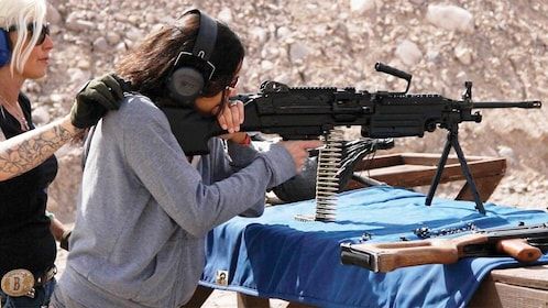 Two ladies on the Outdoor Shooting Experience in Las Vegas