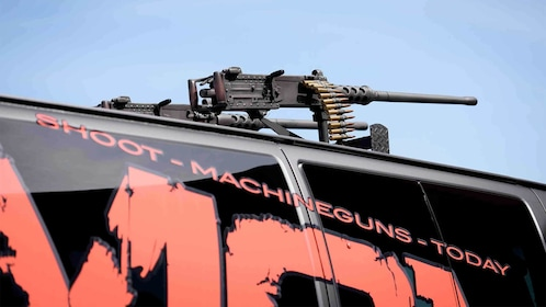 Close view of the vehicle for the Outdoor Shooting Experience in Las Vegas