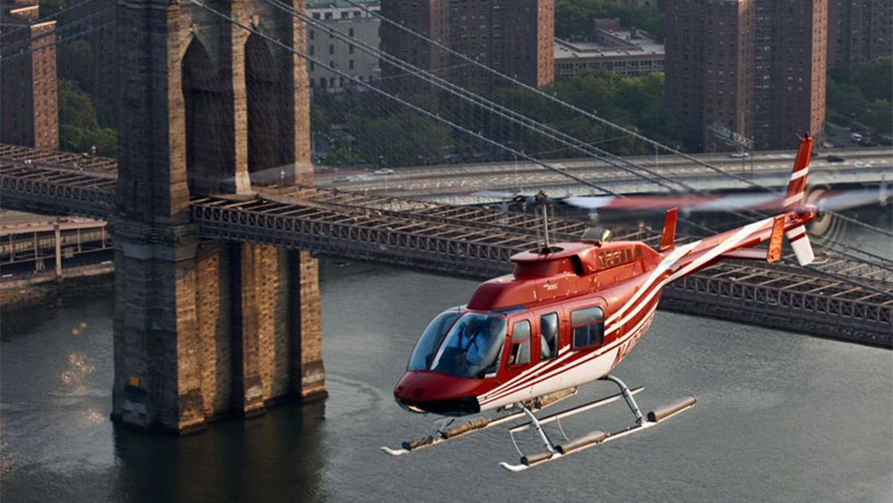 Helicopter flying in New York