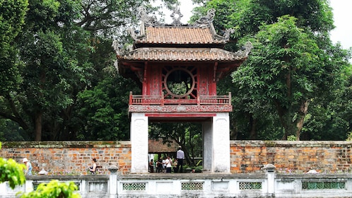 Entrance to the temple of literature in Hanoi