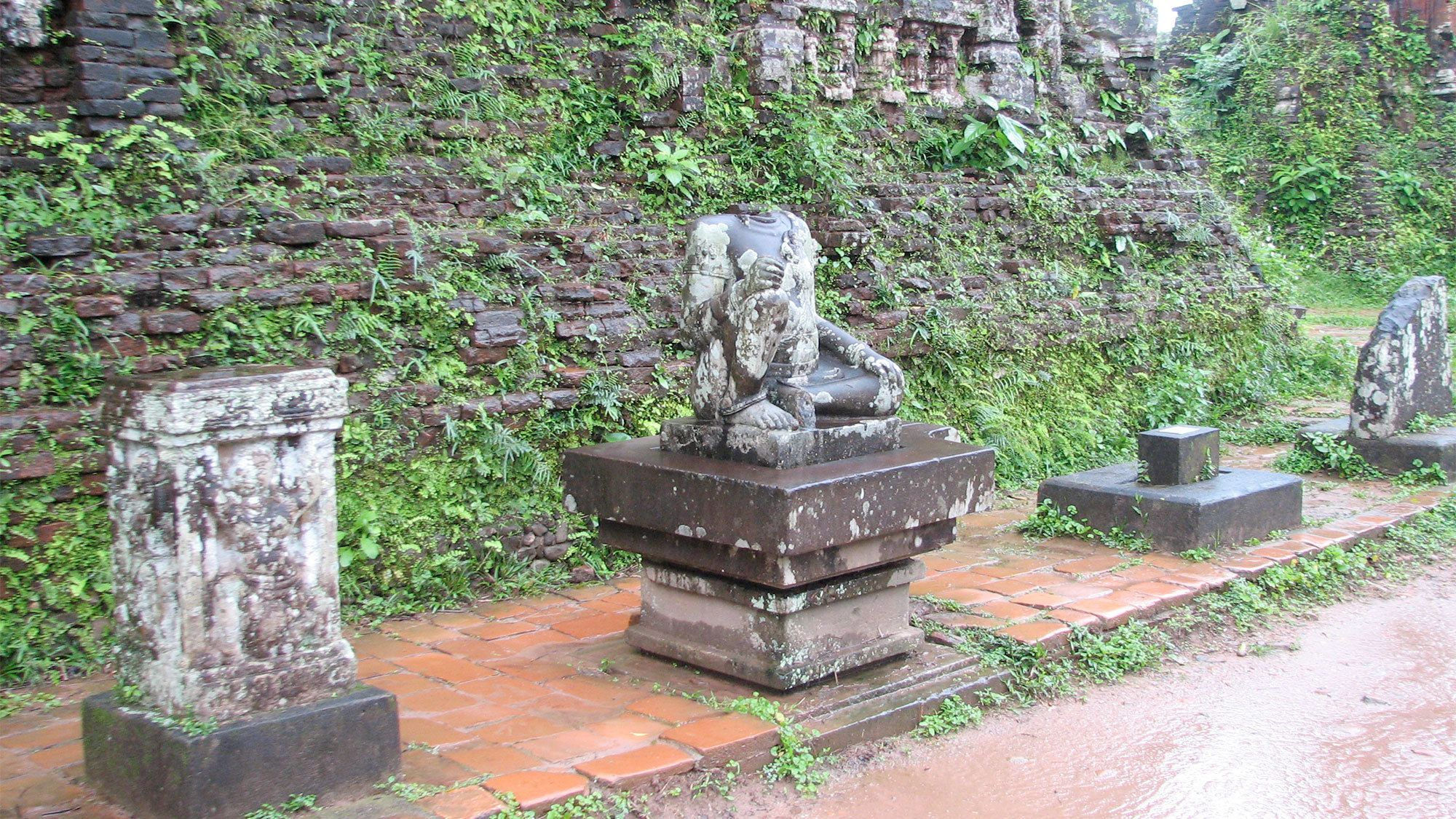 Statues on the My Son Tour in Hanoi, Vietnam