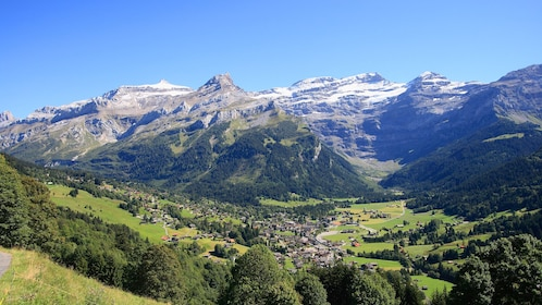 A town in the Swiss Alps