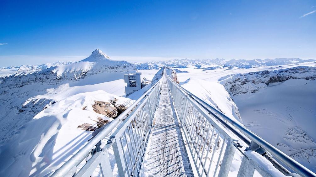 Catwalk above a Swiss glacier
