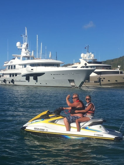 Show item 8 of 8. Guided Jet Ski Ride in Simpson Bay