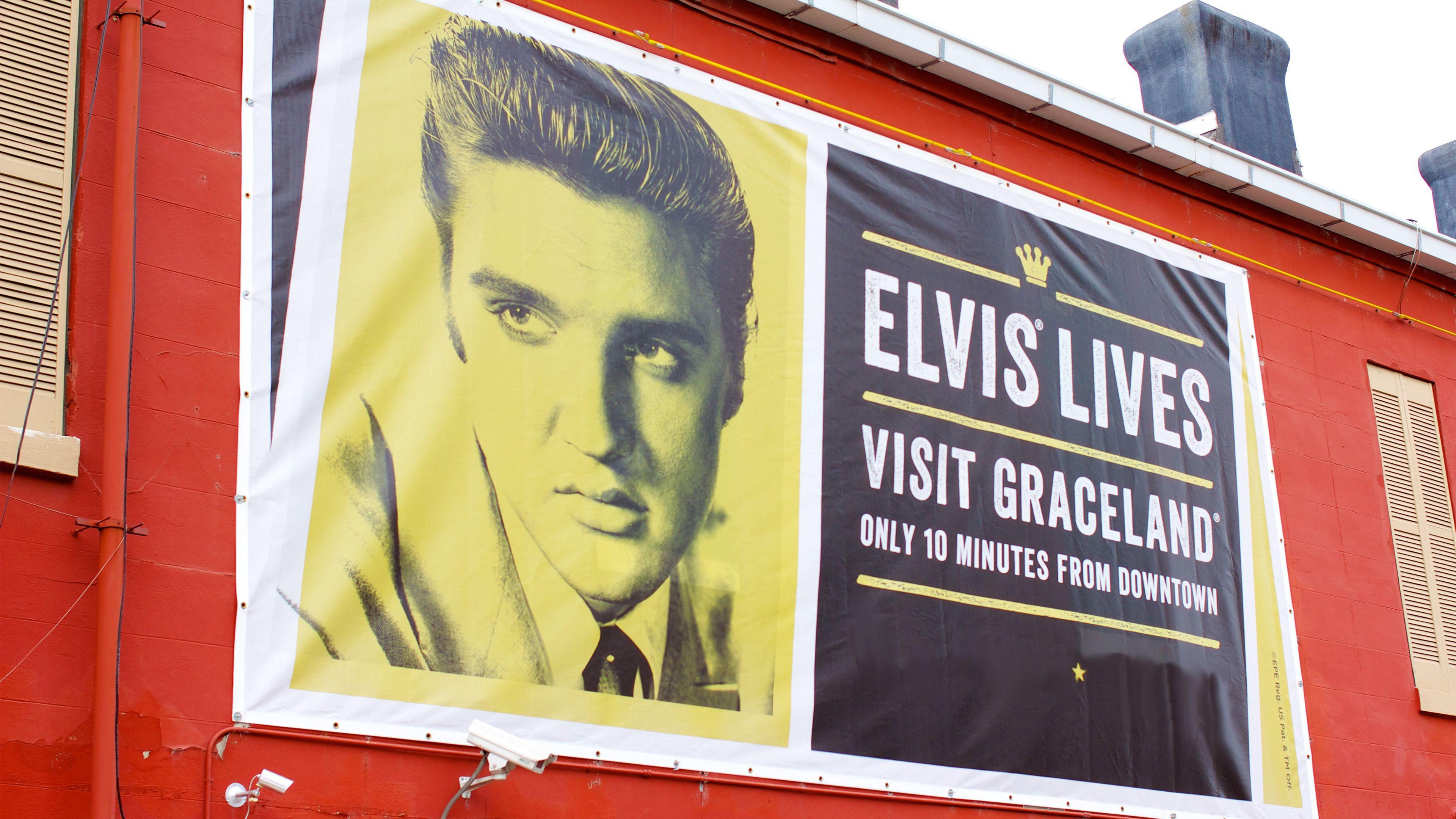 Advertisement for Graceland in Memphis