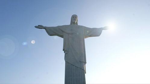 Sunny view of Christ the Redeemer in Rio de Janeiro, Brazil