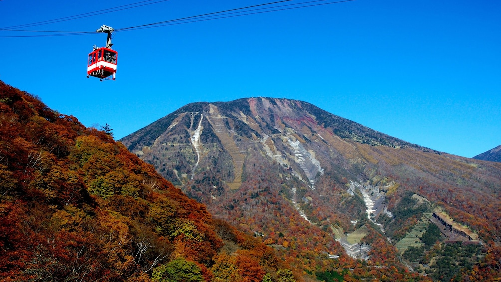 Gondola glides over hilltops in Nikko