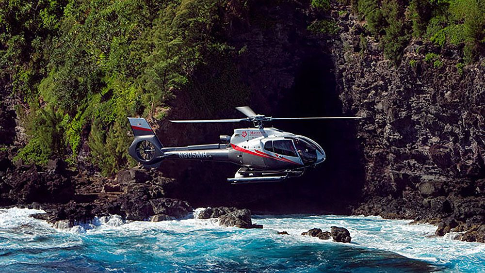 North Shore & Hana Rainforest Helicopter Tour with Taro Plantation Landing