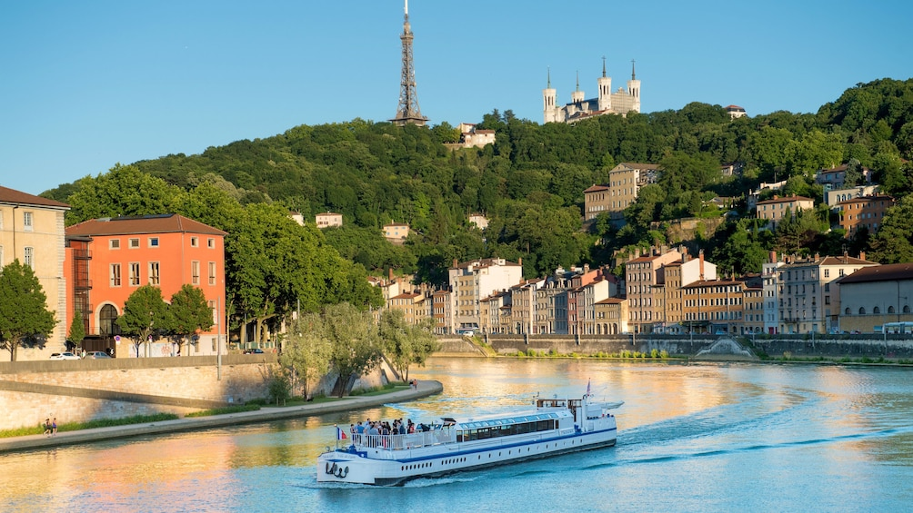 Show item 1 of 5. River cruise next to the city of Lyon