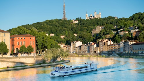 River cruise next to the city of Lyon