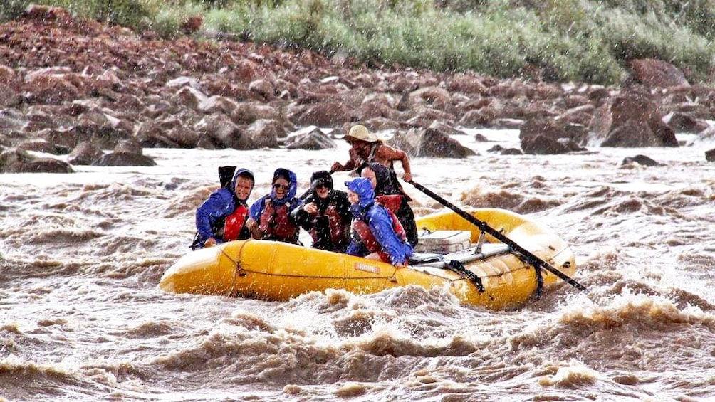Rafting group on a river in Utah