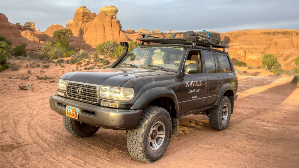 Show item 1 of 5. View of a 4x4 on the Arches and Canyonland tour in Utah