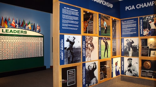 Exhibit inside the World Golf Hall of Fame and Museum in Paris