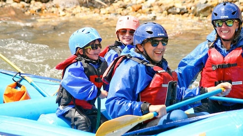 Group whitewater rafting in Denver