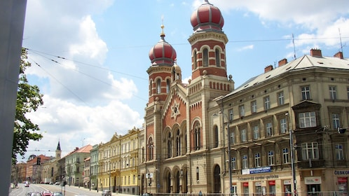 Exterior of Great Synagogue in Plzen