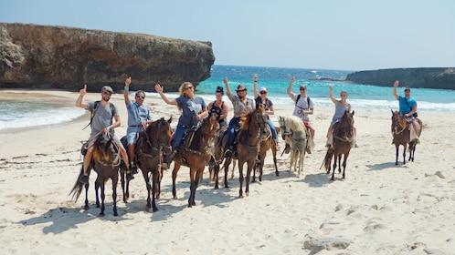 Beach horseback riding tour in Aruba