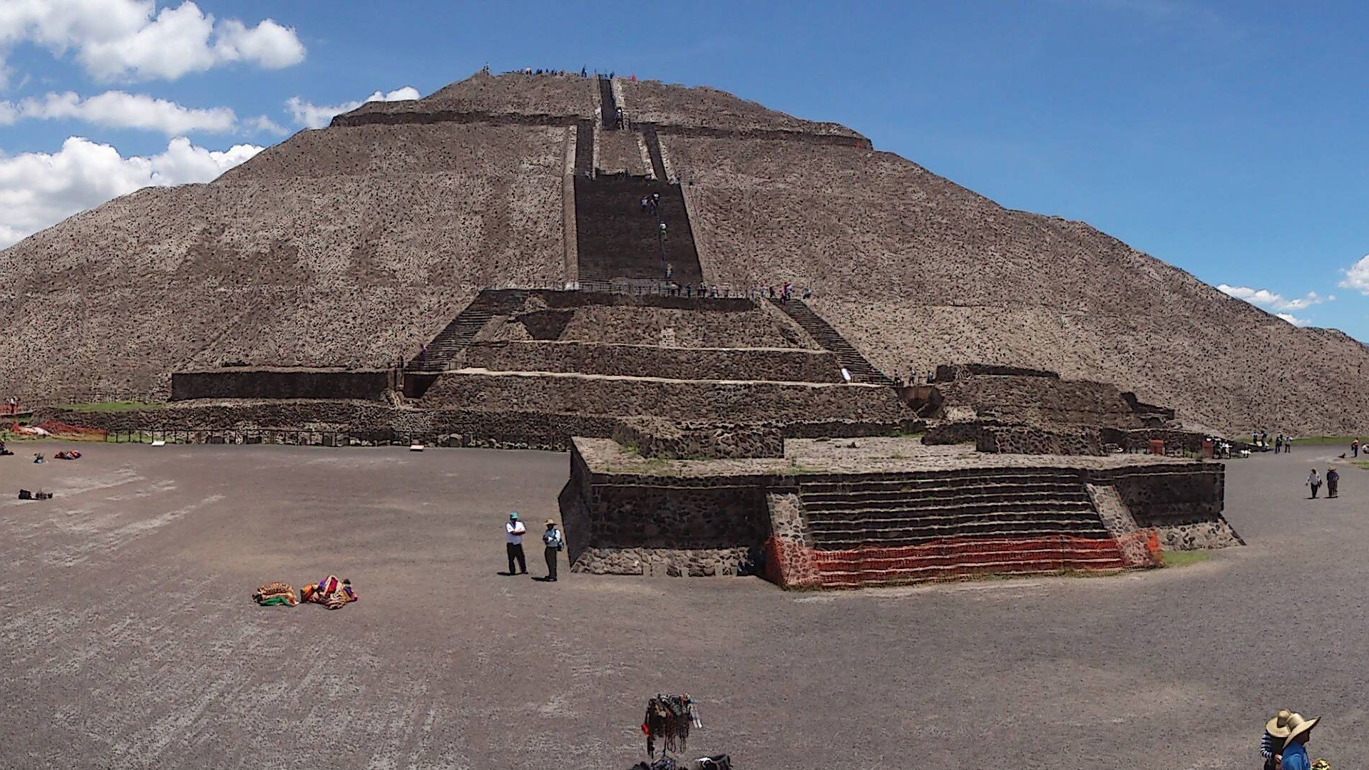 Pyramid at Teotihuacan in Mexico