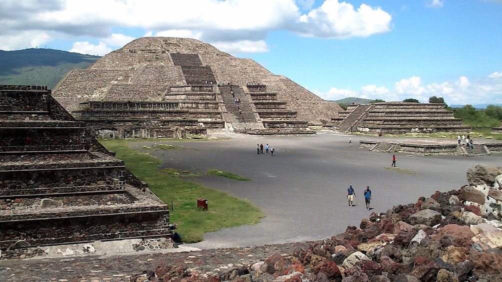 Show item 4 of 9. Ruins at Teotihuacan in Mexico