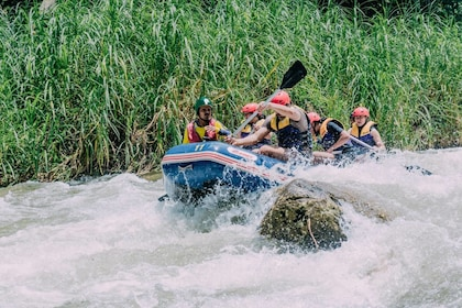 Phang Nga Monkey Cave, Whitewater Rafting & Zipline Adventure