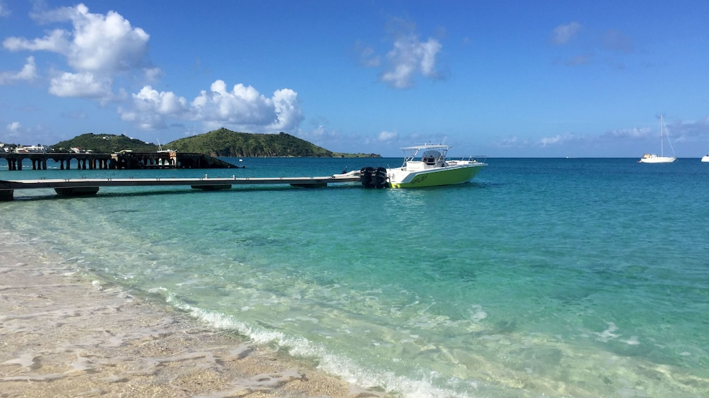 Show item 3 of 5. Boat on the coast of St Martin
