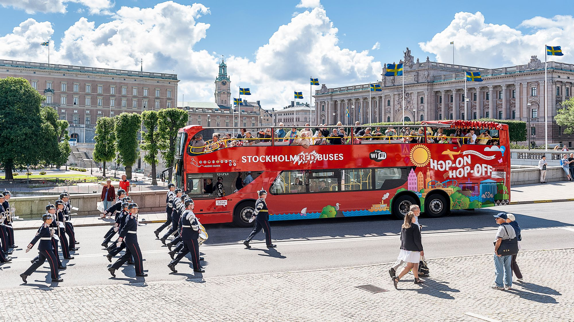 Red Buses Stockholm Hop-On Hop-Off Bus with Boat Option
