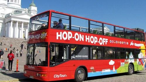Hop-on hop-off bus in Helsinki