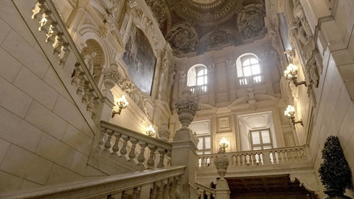 Extravagant staircase in Royal Palace in Turin
