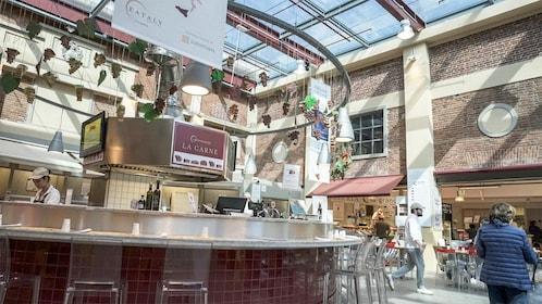 Dining area on the Eataly & Lingotto Guided Tasting Tour