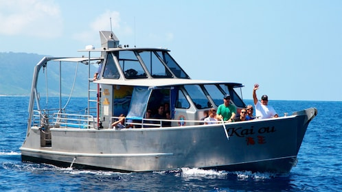 Boat on the North Shore Whale Watch in Oahu