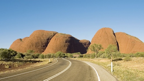 Scenic view of the Kata Tjuta Domes