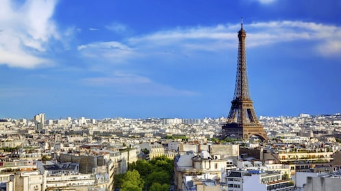 Eiffel Tower and city of Paris