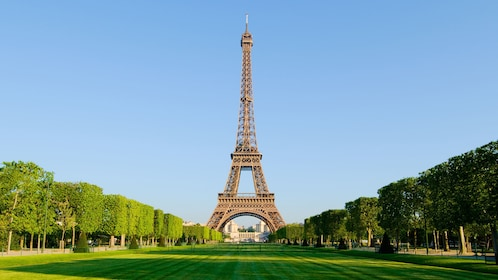 Champ de Mars and Eiffel Tower in Paris