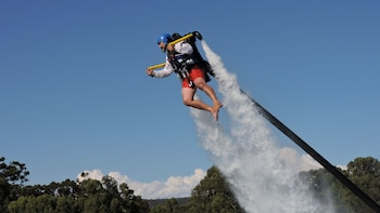 Water Jetpack Flight in Champion Lakes