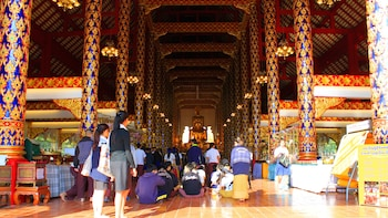 Vipassana Meditation & Discussion with Local Monks at Wat Suan Dok Temple
