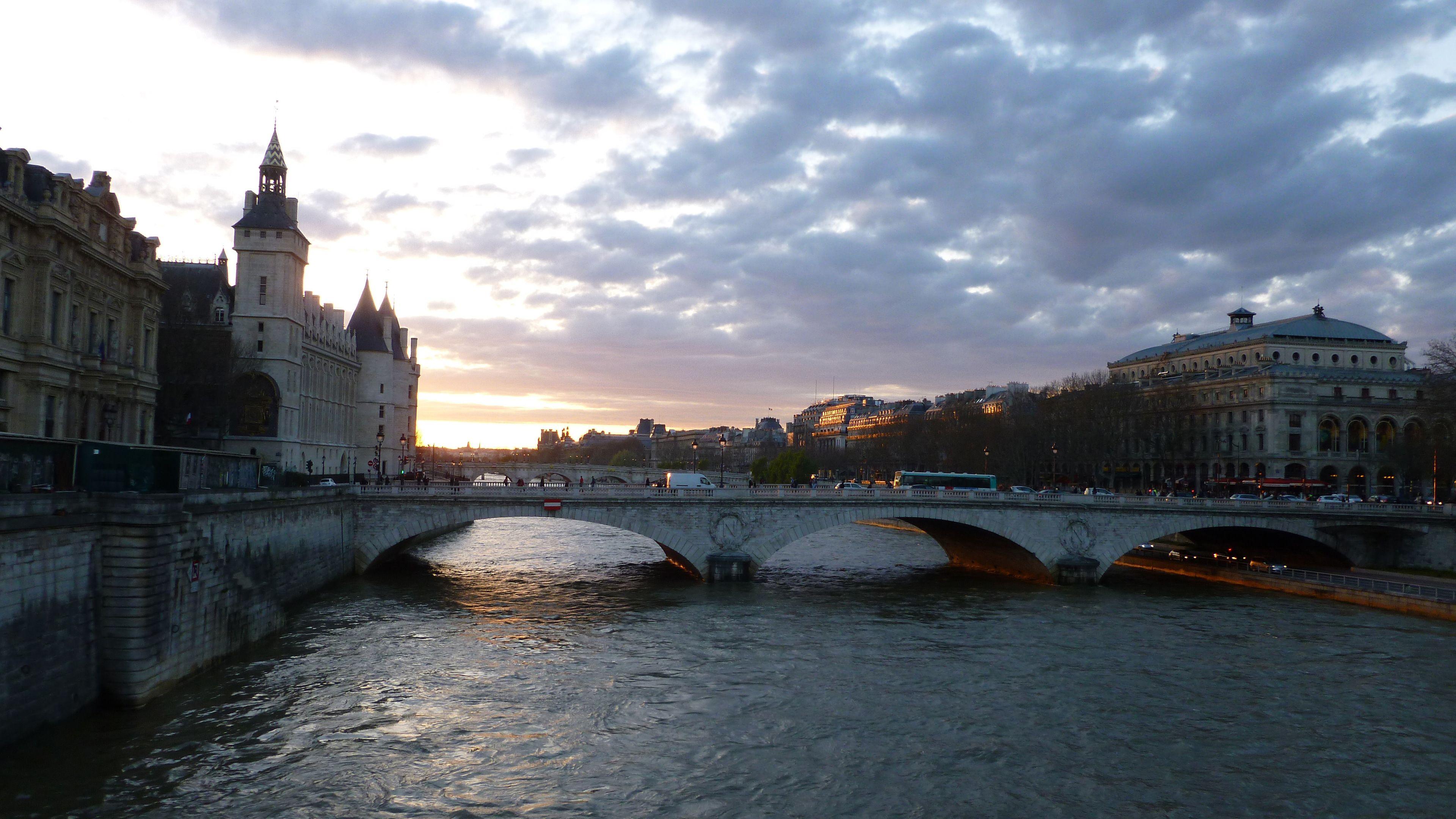 Conciergerie and the River Seine in Paris