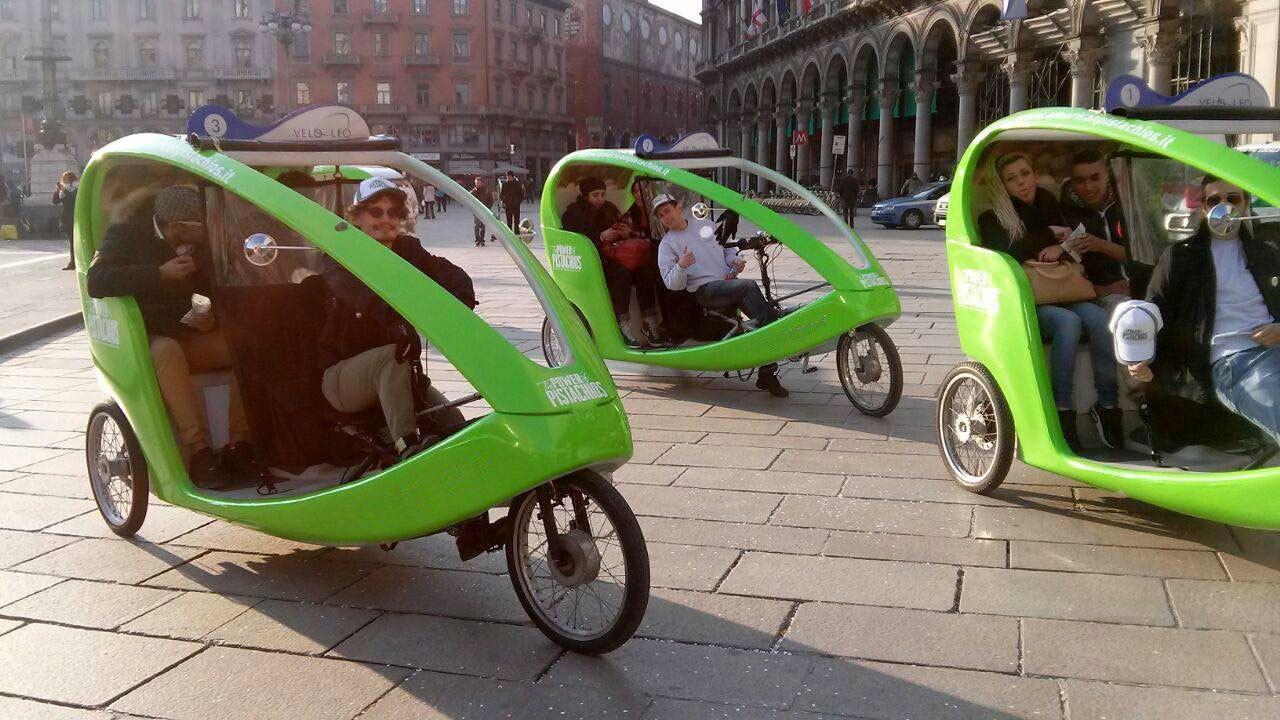 Group of rickshaws in Milan