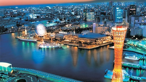 Night view of Kobe City in Japan