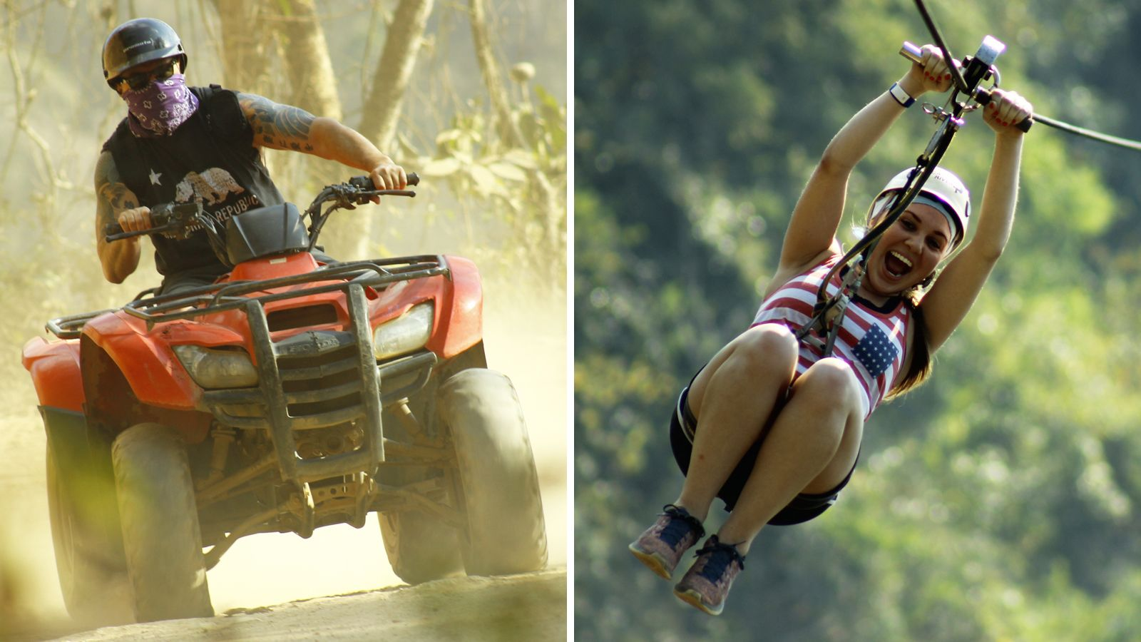 Combo Tour: ATV Ride & Zipline Canopy Adventure