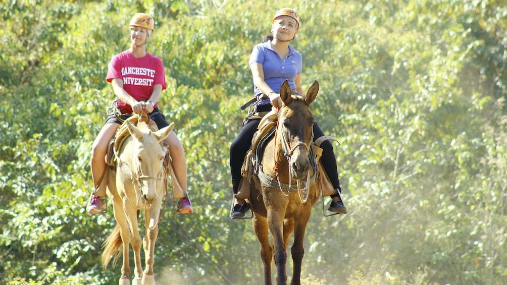 Cargar foto 3 de 7. Ladies on the mule ride tour in Puerto Vallarta, Mexico
