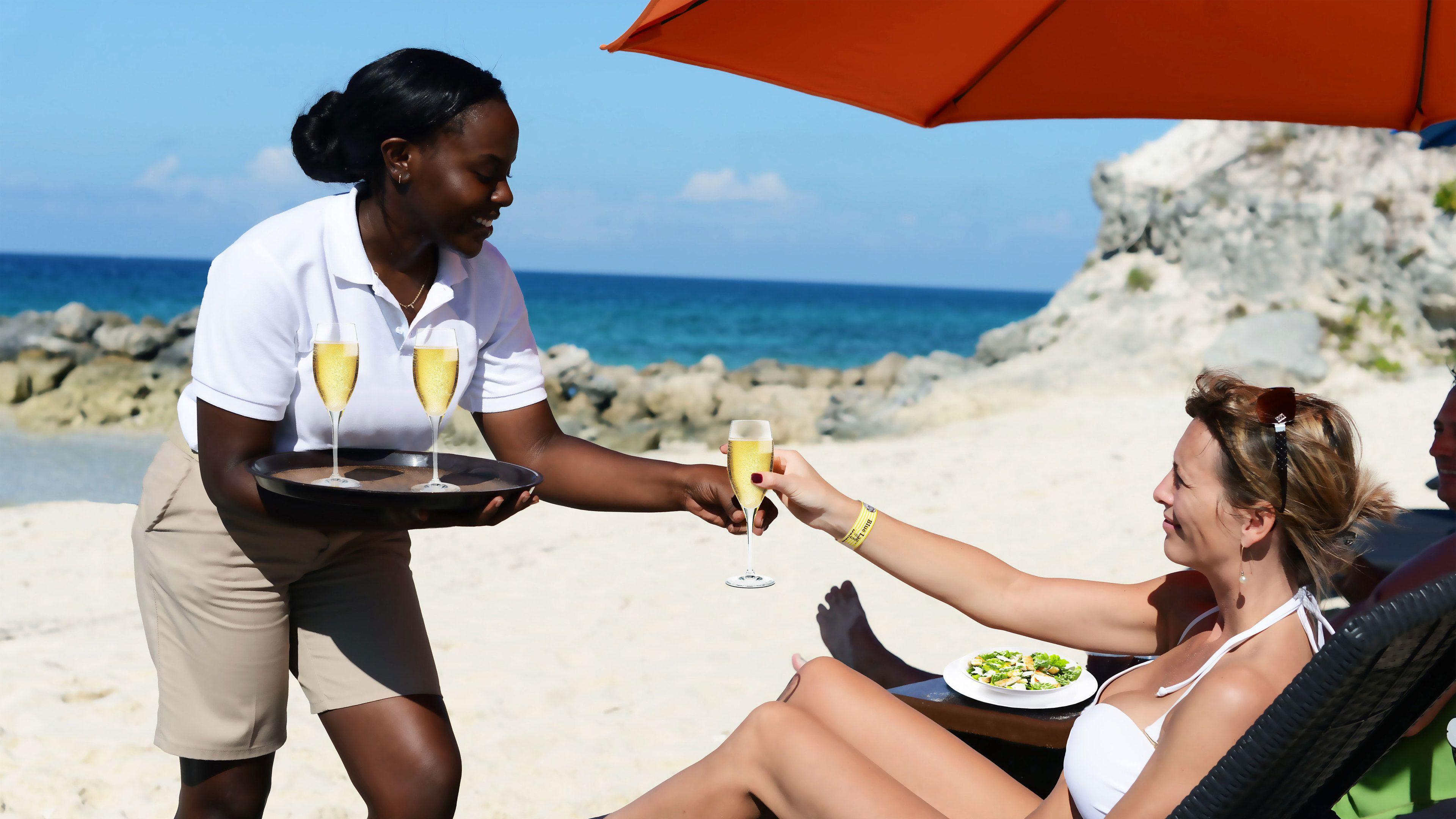 Expérience VIP sur la plage de l'île de Blue Lagoon