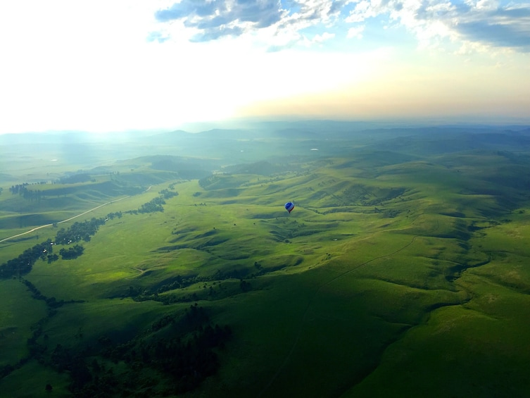 Show item 2 of 10. Sunrise Hot Air Balloon Ride in the Black Hills w/Champagne