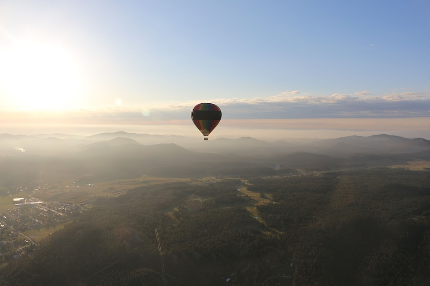 Show item 3 of 10. Sunrise Hot Air Balloon Ride in the Black Hills w/Champagne