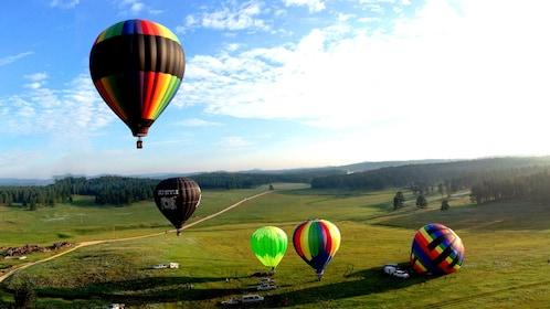 Hot air balloon in South Dakota