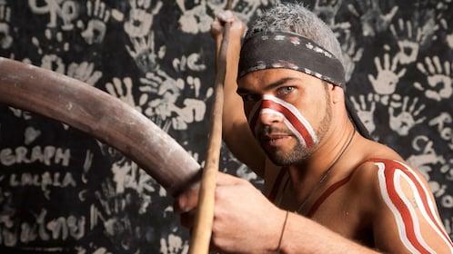 Man with weapon at Waradah Aboriginal Centre in Australia