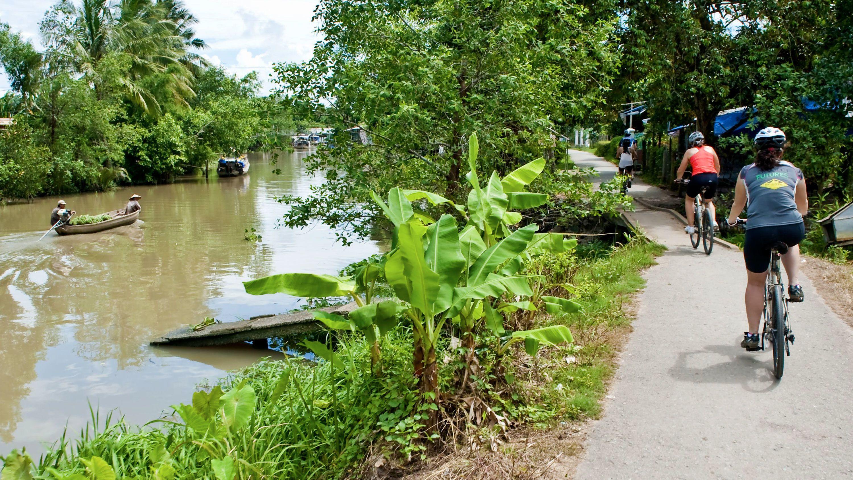Bike tour along the Mekong Delta in Vietnam